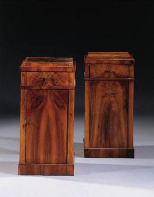 A pair of German Biedermeier m