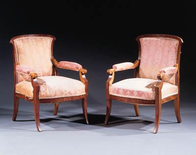 A pair of German Biedermeier w