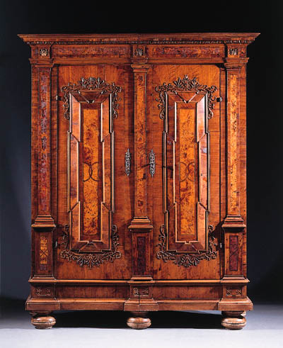 A South German walnut and burr