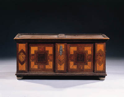 A South German stained pine an