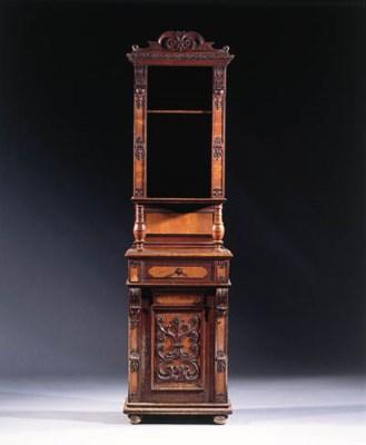 A German oak and ash cupboard