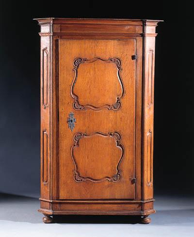 A German oak armoire