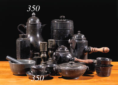 A German serpentine teapot and