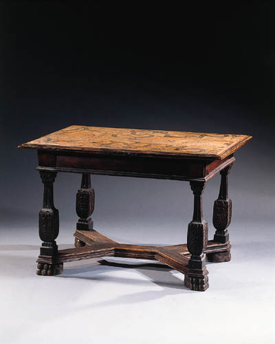A German oak and pine marquetr