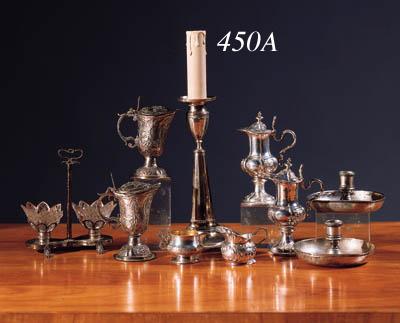A silver candlestick