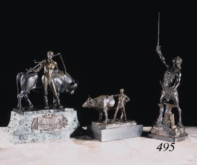 A bronze figure of Siegfried