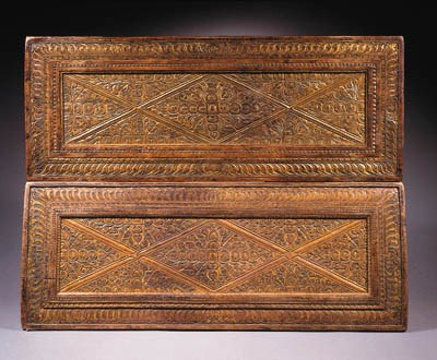 two tibetan gilt-wood manuscri