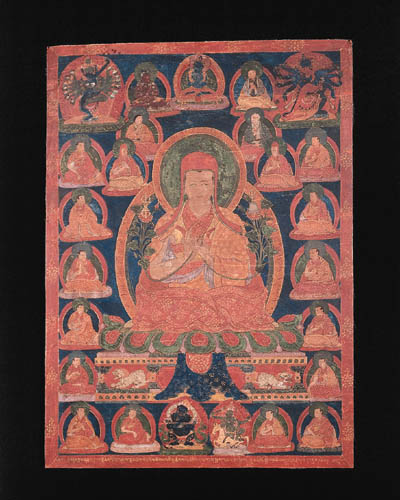 a tibetan thang.ka depicting a