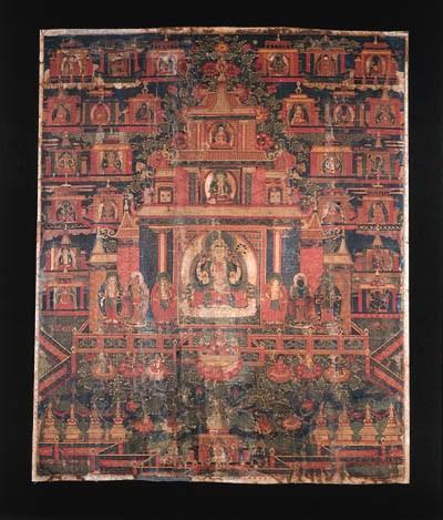 a tibetan thang.ka depicting s