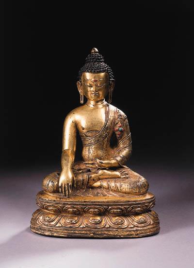 an east tibetan gilt-bronze fi