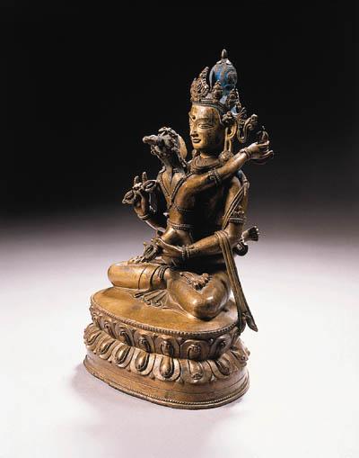a central tibetan bronze figur