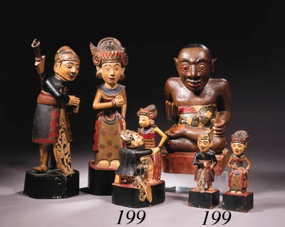 a balinese polychrome group an