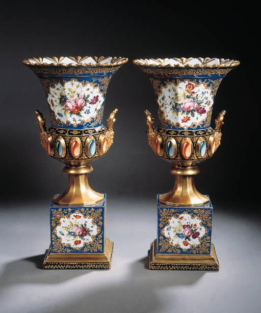 a pair of paris gilt floral tw