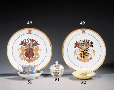 six meissen teacups and saucer