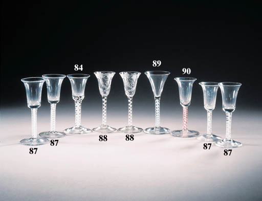 a red-twist wine glass