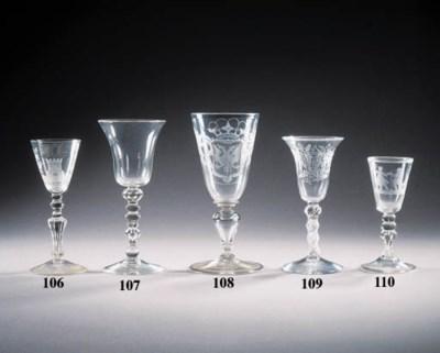 a dutch-engraved wine goblet