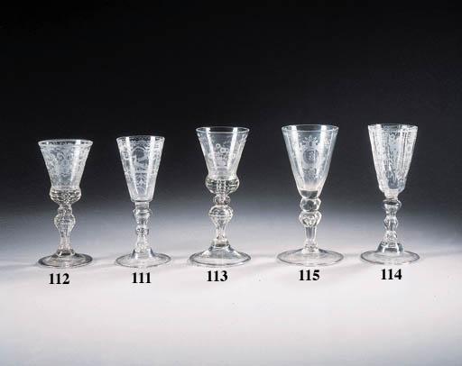 a bohemian engraved wine glass