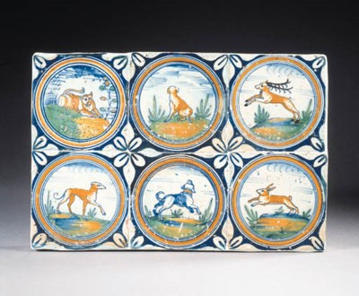 six medallion animal tiles