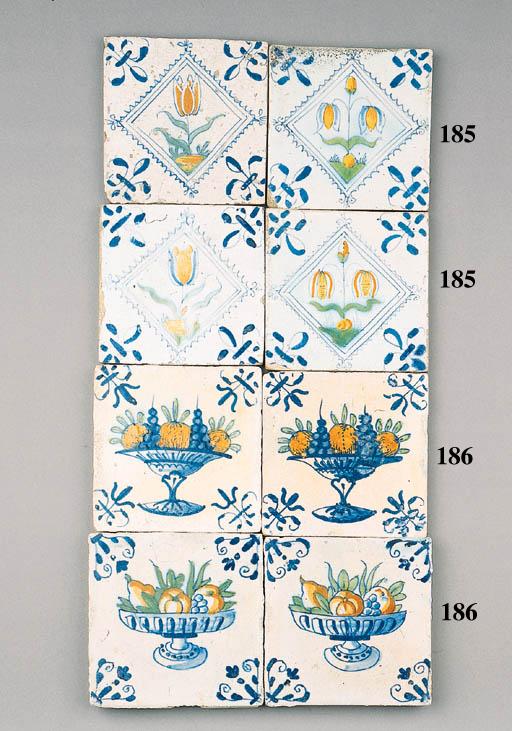 eight dutch delft tiles
