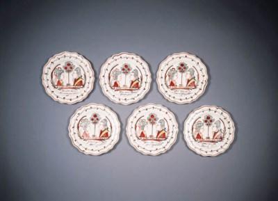 six english creamware dutch-de