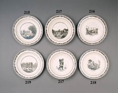 twelve creil creamware plates