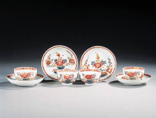 four meissen chinoiserie teabo