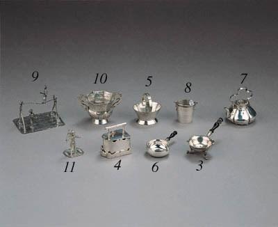 A Dutch silver miniature baske