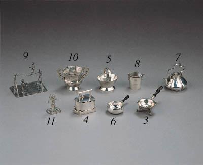 A Dutch silver miniature basket