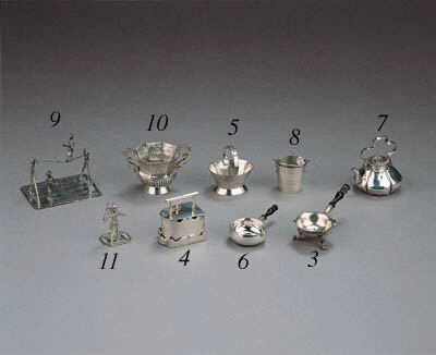 A silver miniature toy