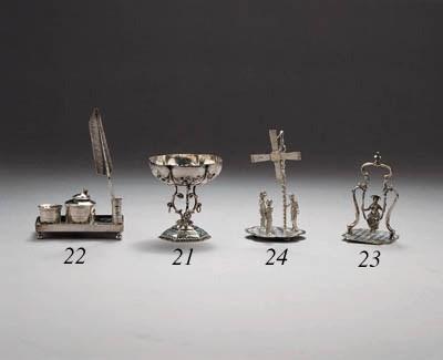 A Dutch silver miniature tazza