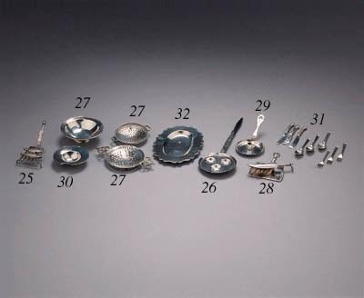 Five Dutch silver miniature tr