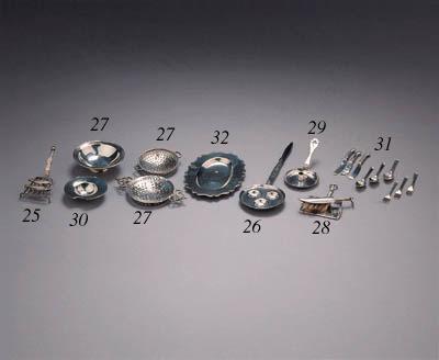 Three Dutch silver miniatures