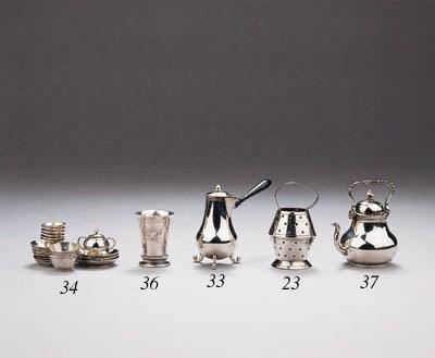 A Dutch silver miniature beake