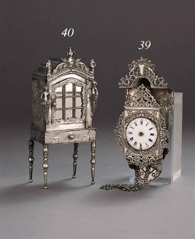 A Dutch silver miniature displ