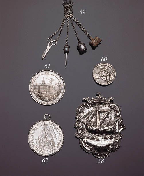 A Dutch silver chatelaine