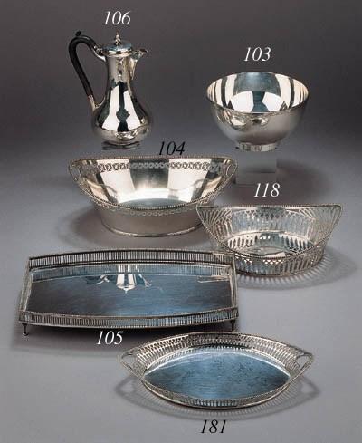 A Dutch silver bowl