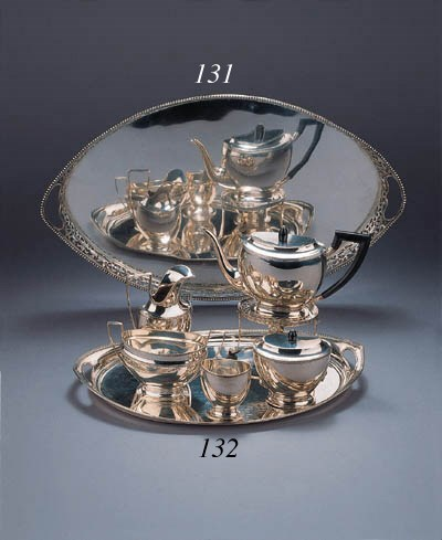 A Dutch six piece tea service