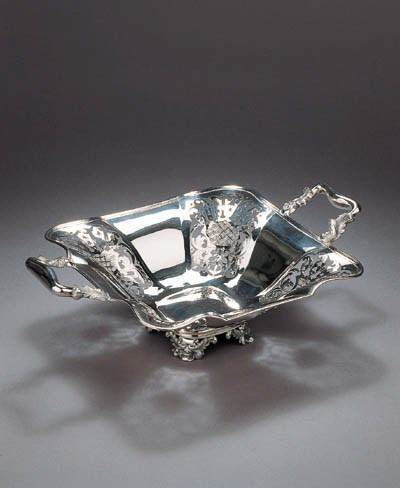 A Dutch silver cakebasket