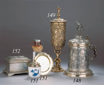 A silver-gilt cup and cover