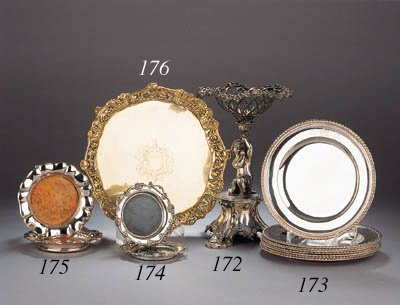A set of eight English silver