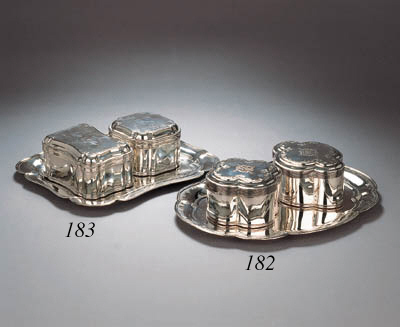 Two Dutch silver biscuit boxes