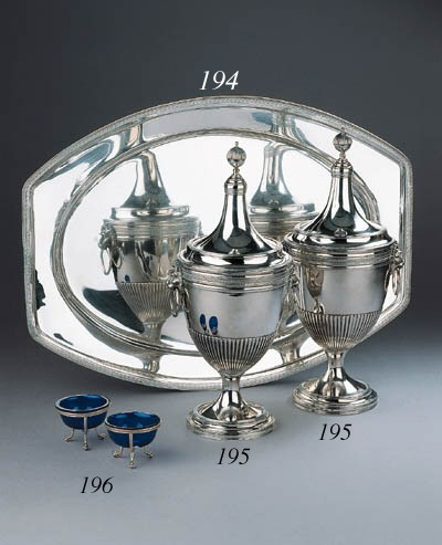 A pair of Dutch silver chestnu