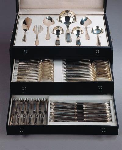 A Dutch silver flatware servic