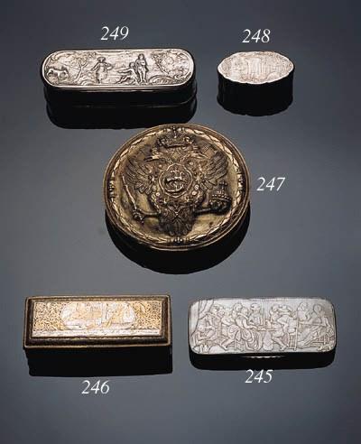A silver-gilt box and a silver