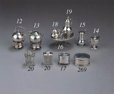 Four silver boxes