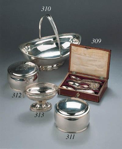 A set of twelve spoons, a spou