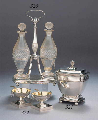 A pair of Dutch Empire silver