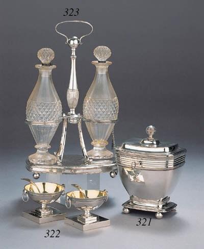 A pair of Dutch Empire silver