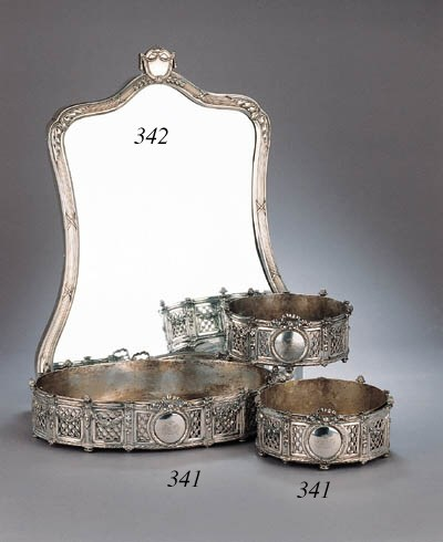 A set of three Belgian silver