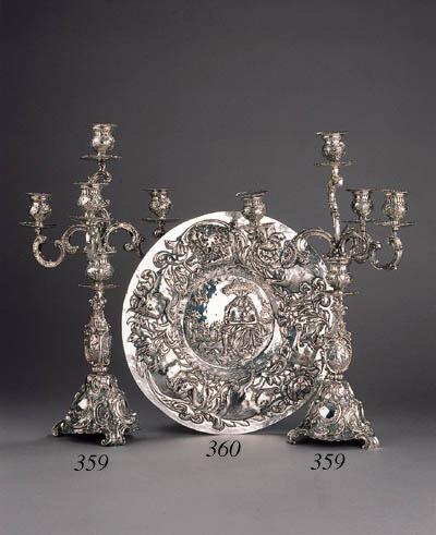A silver dish